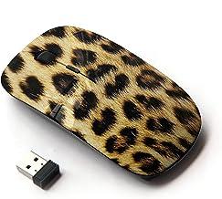 KawaiiMouse [ Optical 2.4G Wireless Mouse ] Leopard Pattern Fur Golden Brown Spots