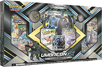 Pokemon TCG: Sun & Moon Guardians Rising Umbreon-GX Premium Collection   Collectible Trading Card Set   3 Foil Promo Cards Featuring Umbreon-GX, Espeon-GX and Eevee   6 Booster Packs, Umbreon Coin
