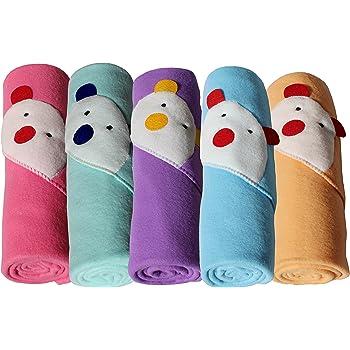 My NewBorn Fleece Blanket Wrapper for Babies Combo of 5 Pcs