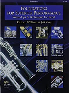 W32PR - Foundations for Superior Performance: Warm-ups and Technique for Band: Percussion