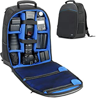 USA Gear SLR Digital Camera Backpack with Laptop Compartment, Front Loading Access, Large Lens Storage, Weather Resistant Bottom and Rain Cover - Compatible with Canon, Nikon, Sony, Pentax and More