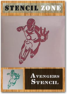 Iron Man Avengers Mylar Airbrush Painting Wall Art Stencil (A4 Size Stencil - Small)