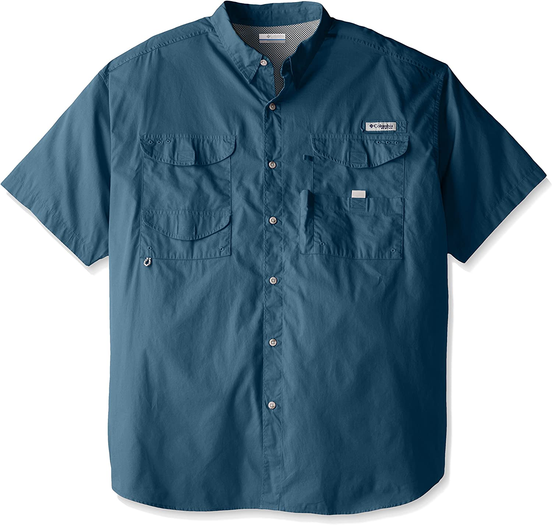 Columbia Sportswear Men's Bonehead Short Max 53% OFF Sleeve Blue unisex Shirt Hero