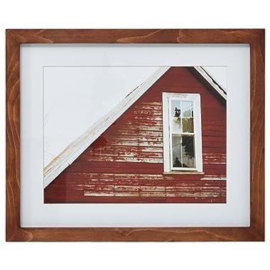 Amazon Brand – Stone & Beam Modern Rustic Red Barn Photo - 18 x 22 Inch Frame, Rustic Brown