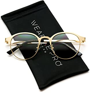 WearMe Pro - Round Retro Lightweight Metal Hipster...