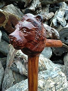 Walking cane Eagle design carved walking stick handmade in desert ironwood custom hand engraving