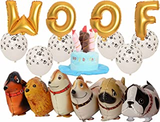 Walking Animal Balloons Pet Dog balloons - 6pcs Puppy Dogs Birthday Party Supplies Kids Balloons Animal Theme Birthday Party Decorations 16 Inch WOOF Dog Birthday Decorations Set, 30 PCS Multicolor La
