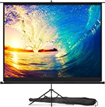 Projector Screen with Stand 100 inch – Indoor and Outdoor Projection Screen for..