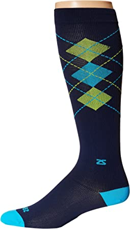 Zensah - Fresh Legs Classic Argyle Compression Socks