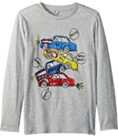 Stella McCartney Kids - Barley Cars Stacked Long Sleeve Tee (Toddler/Little Kids/Big Kids)
