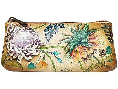 Anuschka Handbags Cosmetic Case 1145 (Caribbean Garden) Handbags