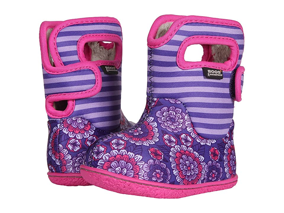 Bogs Kids Baby Bogs Pansy Stripe (Toddler) (Violet Multi) Girls Shoes