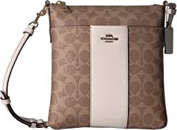 Messenger Crossbody in Color Block Coated Canvas Signature