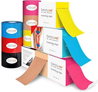 BEAUME® Kinesiology tape, 5cm x 5m • wavy acrylic adhesive coating • water- and tear-resistant • well breathable and stret...