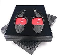 H-Customs Levas En Volante Dsg levas de cambio Shift Paddle hecho de carbono real para 2004-2012 A1(10-12) A3 S3 RS3(06-12) A4 S4 RS4(04-12) A5 S5 RS5(07-12) A6 S6 RS6(04-12) A7 S7(10-12) A8 S8(06-12)