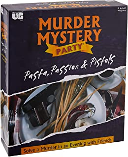 University Games Murder Mystery Party Games - Pasta, Passion & Pistols, Host Your Own Italian Restaurant Murder Mystery Di...