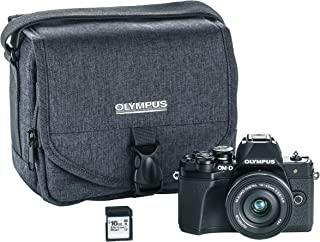 Olympus OM-D E-M10 Mark III Camera Kit with 14-42mm EZ lens (black), Camera Bag & Memory Card, Wi-Fi enabled, 4K video, US ONLY