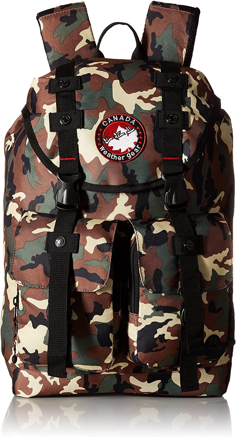 Inventory cleanup selling sale Canada Weather Gear -21-Traditional Camo Backpack Incognito-Tan Max 60% OFF