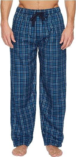 Poly-Rayon Yarn-Dye Woven Sleep Pants