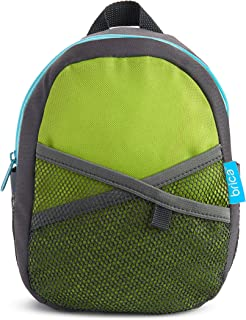 Munchkin Brica by-My-Side Safety Harness Backpack, Green/Grey