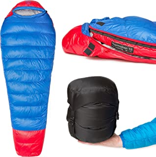 Paria Outdoor Products Thermodown 15 Degree Down Mummy Sleeping Bag - Ultralight Cold Weather, 3 Season Bag - Perfect for Backcountry Camping and Backpacking