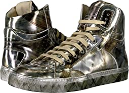 MM6 Maison Margiela - Graphic Metallic High Top
