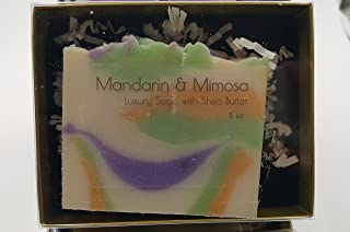 MANDARIN & MIMOSA Luxury Soap, rich and moisturizing, handmade FRESH in USA, smells awesome.