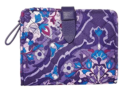 Vera Bradley Iconic RFID Small Wallet (Regal Rosette) Wallet Handbags