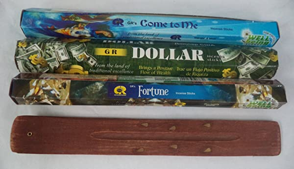 Attract Money And Wealth Set Of 60 Incense Sticks Plus Holder