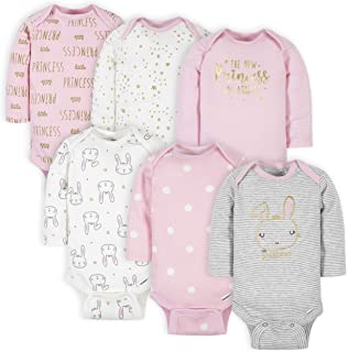Baby Girls' 6-pack Long-sleeve Onesies Bodysuits