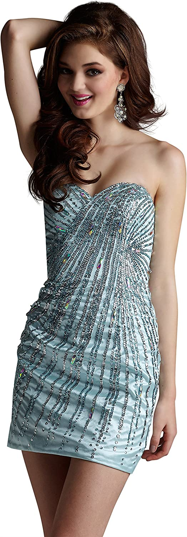 Clarisse Women's Strapless Sequin Cocktail Dress 2270