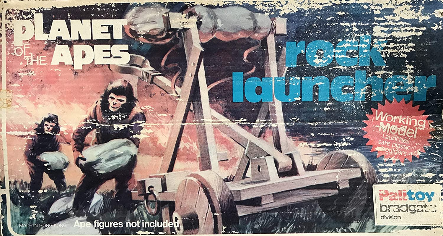 Planet of the Apes Vintage 1974 Mego   Palitoy Action Figure Accessory Rock Launcher - Fantastic Condition In The Original Box