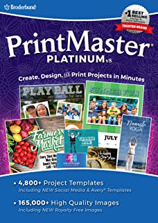 PrintMaster v8 Platinum for Mac– Design Software for At Home Print Projects [Download]