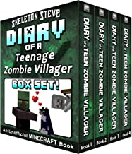 Diary of a Teenage Minecraft Zombie Villager BOX SET - 4 Book Collection 1 : Unofficial Minecraft Books for Kids, Teens, &...