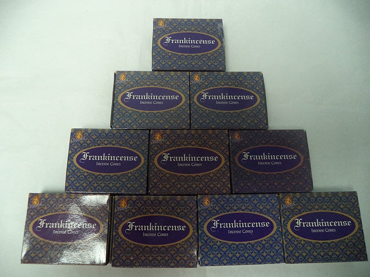広々南方の花輪Kamini Incense Cones : Frankincense?–?10パックの10?= 100?Cones