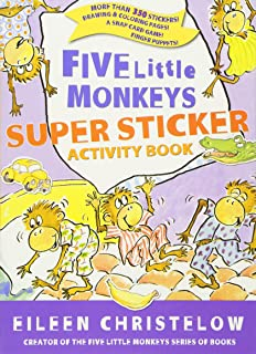 Five Little Monkeys Super Sticker Activity Book (A Five Little Monkeys Story)