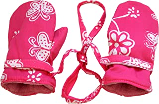 Girls Baby Toddler Mittens with String Micro Fleece Warm Winter