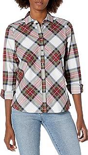 Foxcroft womens Tina Stewart Tartan Shirt Blouse