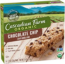Cascadian Farm Organic Chocolate Chip Chewy Granola Bars 6 count (Pack of 5)