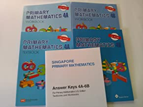 Singapore Primary Mathematics Level 4 KIT + Answer Booklet (US Edition)--Textbooks 4A and 4B, Workbooks 4A and 4B and Answ...