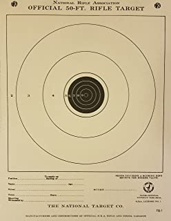 Official NRA Target, TQ-1, 50 Ft. Junior Rifle, Pack of 100