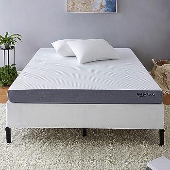 AmazonBasics Ventilated Cooling Gel Memory Foam Mattress - Firm Feel - 5 inch, Queen