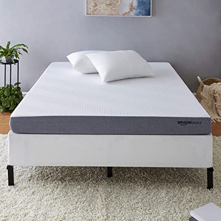 Amazon Basics Ventilated Cooling Gel Memory Foam Mattress - Firm Feel - 5 inch, Cal King