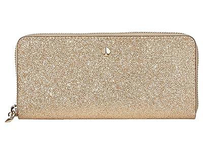 Kate Spade New York Burgess Court Slim Continental Wallet (Pale Gold) Wallet Handbags