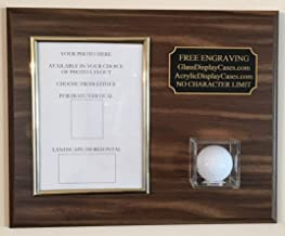 Keepsakes Under Glass Golf Ball and 5 x 7 Photo or Scorecard Hole in One Wall Display