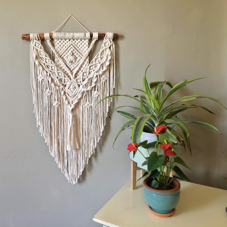 Special sale item Wild Cotton Fiber Arts Large Wove Award-winning store Macrame Bohemian Wall Hanging