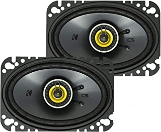 KICKER CSC46 CS Series 4 x 6 150 Watt 4 Ohm 2-Way Car Audio Coaxial Speakers System with Polypropylene Cone, PEI Tweeters ...