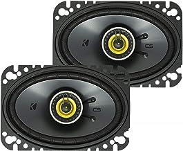 KICKER CS Series CSC46 4 x 6 Inch Car Audio System Speaker, Yellow (2 Pack)