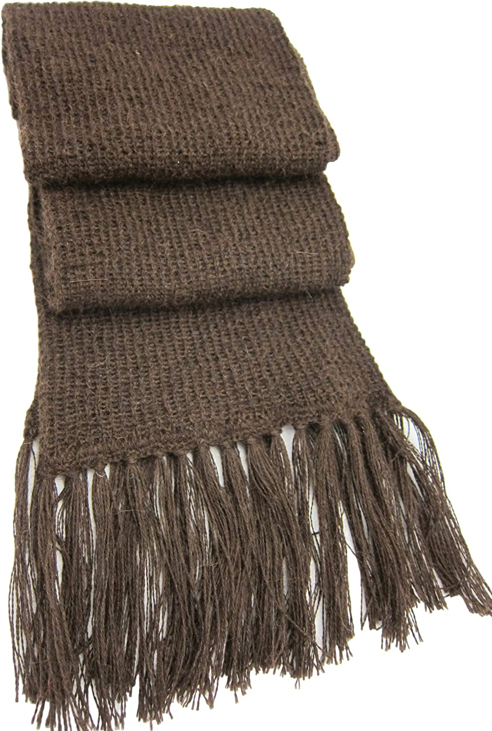 Handmade PURE ALPACA Winter Scarf - Made to Order Just for Men