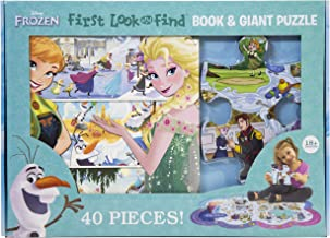Disney Frozen - First Look and Find Board Book & Giant 40 Piece Puzzle - PI Kids